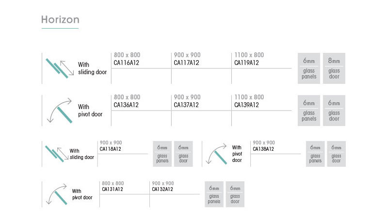 Kinedo Horizon Measurements Table
