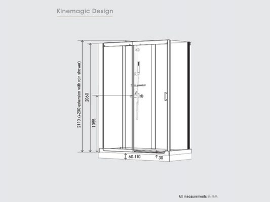Kinedo KineMagic Design Measurements Overview