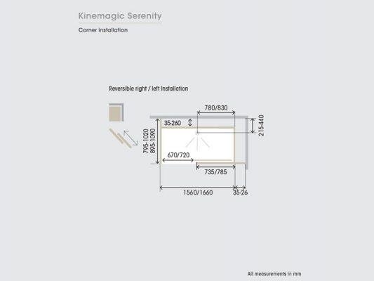 Kinedo KineMagic Serenity Measurements Img02