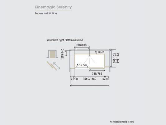 Kinedo KineMagic Serenity Measurements Img03