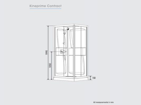 Kinedo KinePrime Contract Measurements Img01