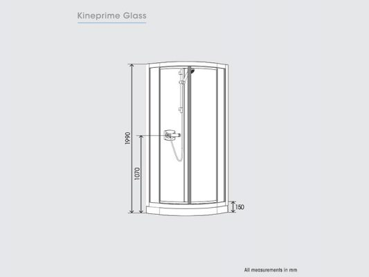 Kinedo KinePrime Glass Measurements Img01