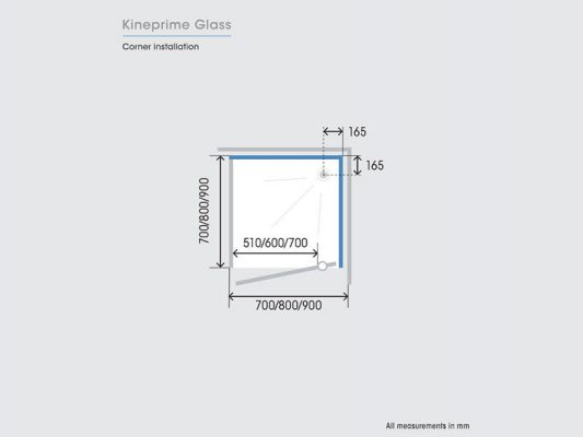 Kinedo KinePrime Glass Measurements Img05