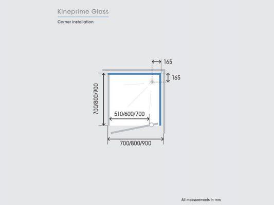 Kinedo KinePrime Glass Measurements Img05