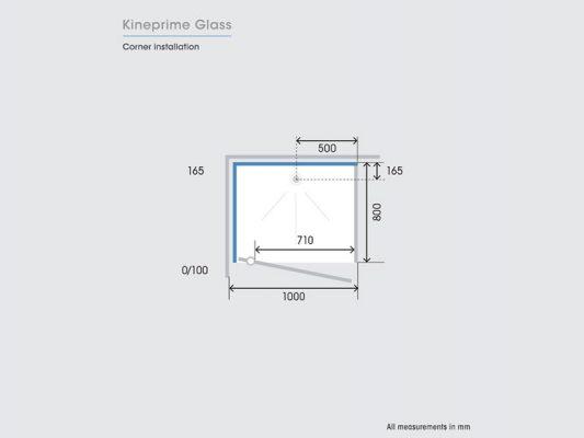 Kinedo KinePrime Glass Measurements Img06