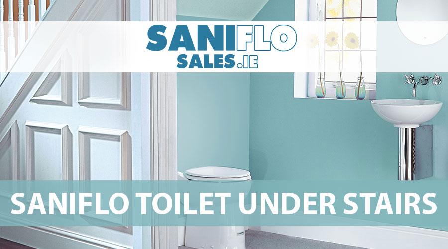 saniflo toilet under stairs