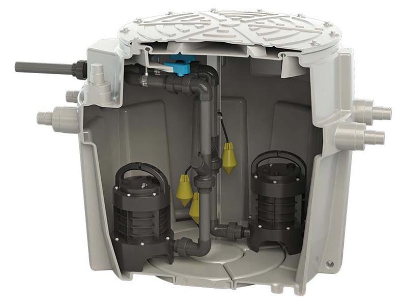 Sanifos 500 Single Phase Pumping Station Img01