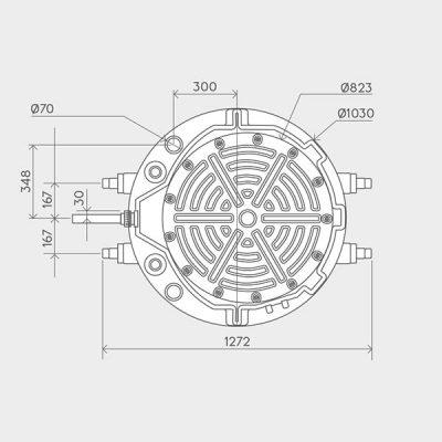 Sanifos 500 Three Phase Pumping Station Dimensions Img02