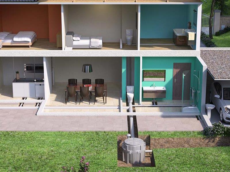 Sanifos 500 Three Phase Pumping Station Img02