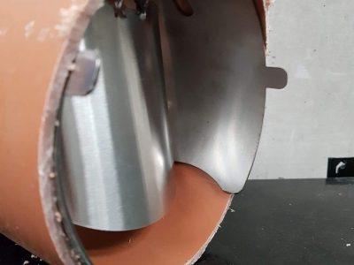 Rat Stopper 6in in pipe side
