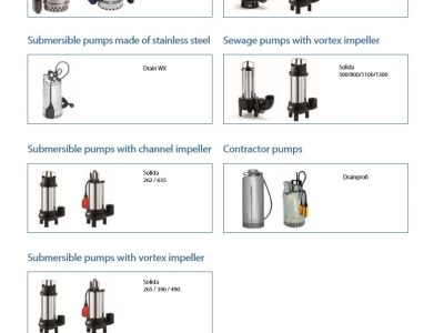 Submersible Pump Range   Waste Water